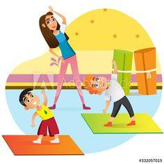 Cartoon Icons, Cartoon Kids, Cute Cartoon, Indoor Activities For Kids, Fun Activities, Boy Silhouette, Family Yoga, Kids Climbing, Banners