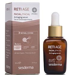 El sérum antienvejecimiento Reti Age de #Sesderma es un tratamiento concentrado que previene el envejecimiento. Contiene hasta 3 tipos de retinoles que van aportando a tu piel una dosis continua de vitamina A. Sus resultados son visibles: menos arrugas y más firmeza para tu piel.