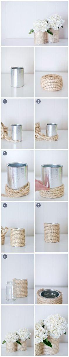 Mooie vaas om zelf te maken EN het ziet eruit als iets wat heel erg duur is maar kost bijna niets ;)