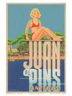 Juan Les Pins, Antibes, France, c.1930s Kunstdruck