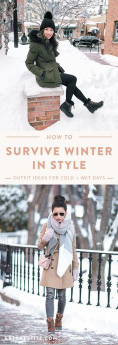 How to Survive Winter in Style // Weather Boot Outfits mode boho Winter Boots Outfits, Winter Fashion Boots, Autumn Winter Fashion, Winter Style, Boots For Winter, Winter Outfits Korea, Winter Boots Canada, Snow Boots Outfit, Japan Winter Fashion