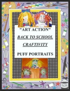 "BACK TO SCHOOL - Puff Self Portrait Fun Fun Fun Activity.  OWNLOAD INCLUDES: PDF lesson plan Patterns for face (optional use) Step by step photos Printable facial layout BB ideas Follow-up game  PROJECT OVERVIEW-PURPOSE: This is so much fun!!! Just the name ""Puff Portraits"" gets the kids thinking! Lesson plan will provide a fun and creative ""back to school"" activity to help the children get to know their new classmates."