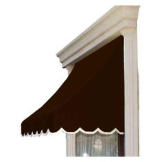 AWNTECH 10 ft. Nantucket Window/Entry Awning (56 in. H x 48 in. D) in Brown, Brown/Tan