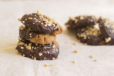 Receita de Bolachas de Manteiga de Amendoim  #recipe #cookies #peanut #chocolate