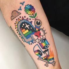 На данном изображении может находиться: 1 человек, часть тела крупным планом Badass Tattoos, Body Art Tattoos, New Tattoos, Small Tattoos, Tatoos, Wolf Tattoo Design, Tattoo Designs, Remember Tattoo, Tatuagem Old School