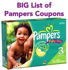 BIG List of Pampers Coupons: $2/1 Easy Ups, $1.50/1 Cruisers, $1.50/1 Swaddlers + more!
