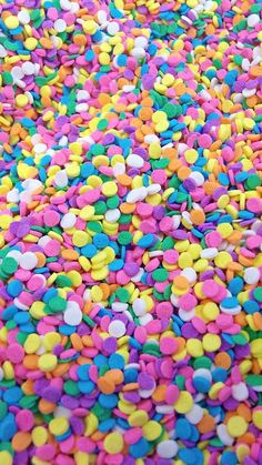 Pastel Confetti Sprinkles to add to your New Year's confections. Food Wallpaper, Mobile Wallpaper, Wallpaper Backgrounds, Iphone Wallpaper, Candy Background, Fancy Sprinkles, Rainbow Aesthetic, Candy Shop, Flower Shape