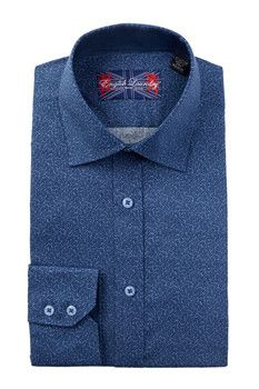 English Laundry Long Sleeve Stretch Floral Print Dress Shirt