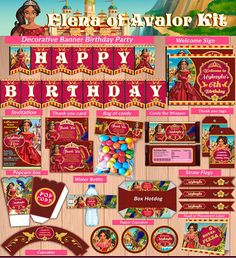 Princess Elena of Avalor printable party kit Elena Party