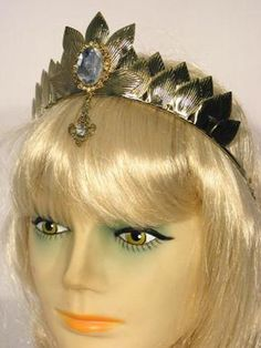 Oz Witch Metal Costume Crown Adult: Gold