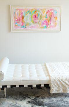 Rosado - original painting by Jen Ramos-pretty, pretty, pretty