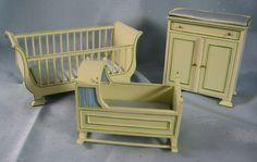 3-Piece Yellow Nursery Set - $115.00 : Miniature Cellar Dollhouse Miniatures in Ohio, For Collectors of Fine Miniatures