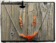 Oranssi helmikeinu-korusetti