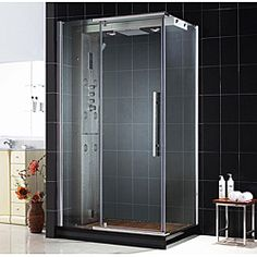 This shower features a tempered glass door with an anti-limescale coating and a pivot door with a magnetic door latch.http://www.overstock.com/Home-Garden/DreamLine-Majestic-Steam-Shower-Enclosure/6695016/product.html?CID=214117 Add to cart to see special price