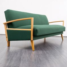 Delicate 1960s sofa with folding mechanism Karlsruhe Velvet-Point