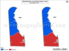 Maryland Election Results Map 2008 Vs 2012  USA President