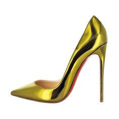Christian Louboutin acid green high heel pump