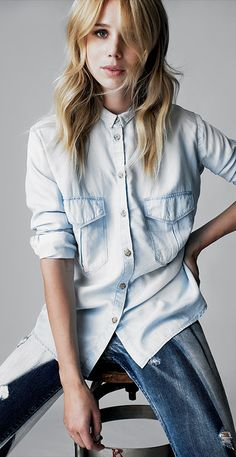 Denim with denim | Elin Kling for Marciano Our ♥ for anything denim. - www.theviewmag.com