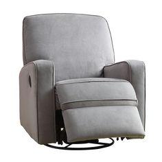"Sutton Swivel Glider Recliner Comfort Chair - Stella Zen Grey - Home Meridian International - Babies ""R"" Us"