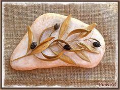 Golden olive leaves on semi-golden stone! www.facebook.com/pinelokallitexnimata Lace Up, Leaves, Flats, Facebook, Stone, Detail, Loafers & Slip Ons, Rock, Stones
