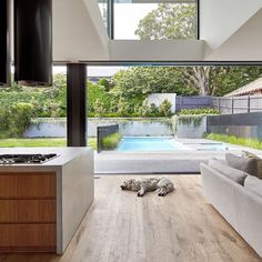 All I want for Christmas is .... Seamless integration of internal and external areas | Creating functional purpose built green spaces to suit our Australian lifestyle | #regram @dko_architecture #lnamember #landscaper #landscapearchitecture #landscapecontractor #outdoorliving  #landscapedesign #homes #gardens #insideout #gardendesign  #landscapeconstruction #landscapemaintenance #lna #poolside #peopleinthelandscape #pool #pets by lna_landscapers_association