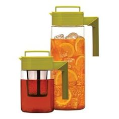 The Flash Chill Iced Tea Maker set  is designed to make delicious and fresh brewed iced tea in minutes. The set includes a 24 oz. Tea Maker and a 66 oz. Chilling Pitcher that are used in combination to make flash chilled iced tea.