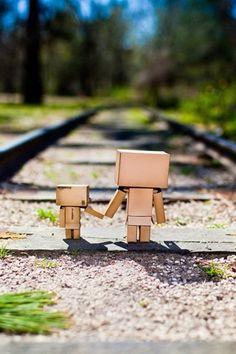 Entre vías con la persona que mas quieres... eso si es lindo