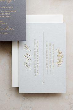 Michaela McBride Calligraphy Wedding Invitation Stationery Suite