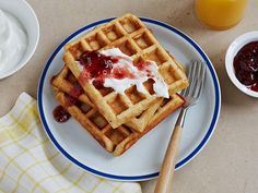Multigrain Waffles: These slightly nutty waffles are packed with three different grains. Top with yogurt and fruit preserves for a hearty, healthy start to your morning.