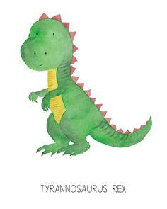 6 Dinosaurs Watercolor Prints- Nursery Room or Playroom art print (Includes 6 prints) 6 Dinosaurier Aquarell Drucke Kinderzimmer oder Spielzimmer Kunst Watercolor Animals, Watercolor Print, Baby Animal Drawings, Dinosaur Wallpaper, Image Deco, Dinosaur Pictures, Dinosaur Drawing, Playroom Art, Dinosaur Nursery