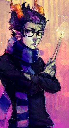 #homestuck #eridan #ampora   i would do anything to have cool hair and clothes like eridan