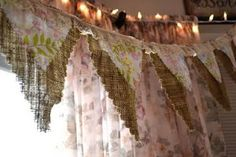 Updates: Shabby Chic Baby Shower Set up in pics... add floral fabric to my burlap banner