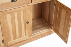 Mission China Cabinet in Natural Hickory, Custom Hardware from Erik Organic