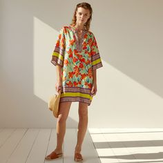Image 2 of the product Floral print silk tunic