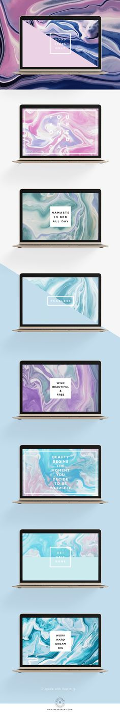 You loved our marble mobile freebies and asked for desktop ones, well we heard you! Enjoy your free desktop wallpapers! Choose your favorite and share! - We Are Kemy
