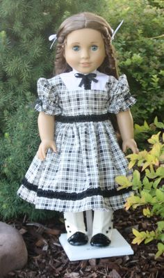 American Girl Black and White Fancy Dress by RuthielovestoSew, $48.00