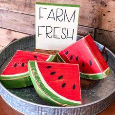 Watermelon Ideas, Watermelon Crafts, Watermelon Patch, Scrap Wood Crafts, Primitive Wood Crafts, Scrap Wood Projects, Summer Crafts, Summer Fun, Summer Time
