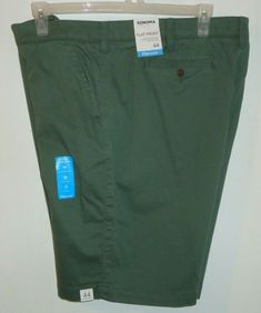 e5ec717598 Big Men's Sonoma Life Flexwear Stretch Shorts Green Flat Front 10