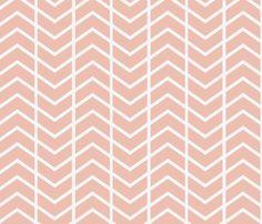chevron stripe Dusty pink fabric by ninaribena on Spoonflower - custom fabric