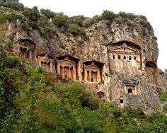 Lycian Tombs in Dalyan. Amazing boat trip. Includes a visit to the mud baths and turtle island. Worth a visit!