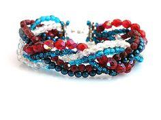 kacenkag / Zapletané korálky modro-červené