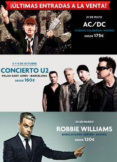 #Entradas #U2 #ACDC  Haz click en la imagen para reservar.