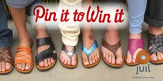 PIN IT, REPIN OR COMMENT and you could WIN a FREE pair of Juil sandals or shoes in ANY color or style! We'll pick one lucky Pinner Friday 8/3/2012 at 11:00 AM CST! GET READY, GET SET…PIN! Make sure in your description to put the hashtag #JuilConnect and www.juil.com.  Have fun! ONE PIN IS ALL YOU NEED!