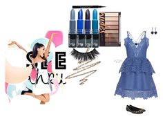 """""""blue"""" by ashley-morgan-iii ❤ liked on Polyvore featuring self-portrait, Valentino, Lipsy, Anastasia Beverly Hills, Givenchy, Bling Jewelry, CARAT*, clear and Seethru"""
