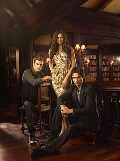Paul Wesley, Nina Dobrev and Ian Somerhalder Season 2 Promotional Photos