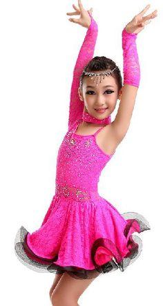 US $34.33 / piece Latin Dance Dress Children With Hand sewing Stone Girls Dance Dress Kids Ballroom Dance Competition Rumba/Cha Cha/Tango Dresses