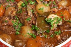 By The Food Coach, Jennifer Bruer Ingredients: 2 pounds grass-fed stewing beef 2 onions 1 large rutabaga 2 cloves of garlic 2 large carrots 7 button mushrooms sliced 1/2 cup red wine 1/4 cup hot wa...