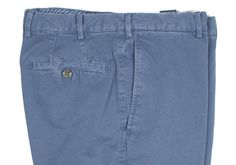 Howard Yount mid-blue garment-dyed cotton trousers