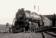 ICRR 4-8-2 locomotive #2613 on the turntable