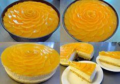 Hasznos cikkek és receptek: Barackos sajttorta Cookie Recipes, Cheesecake, Dairy, Food And Drink, Pudding, Cookies, Foods, Kitchen, Instagram